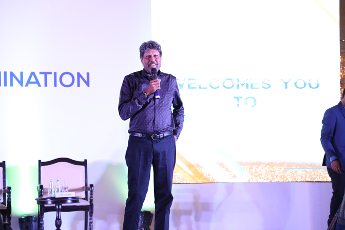 <p>Kapil Dev inspiring everyone through his words of wisdom</p>